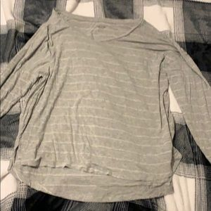 Grey and Silver Striped Shirt